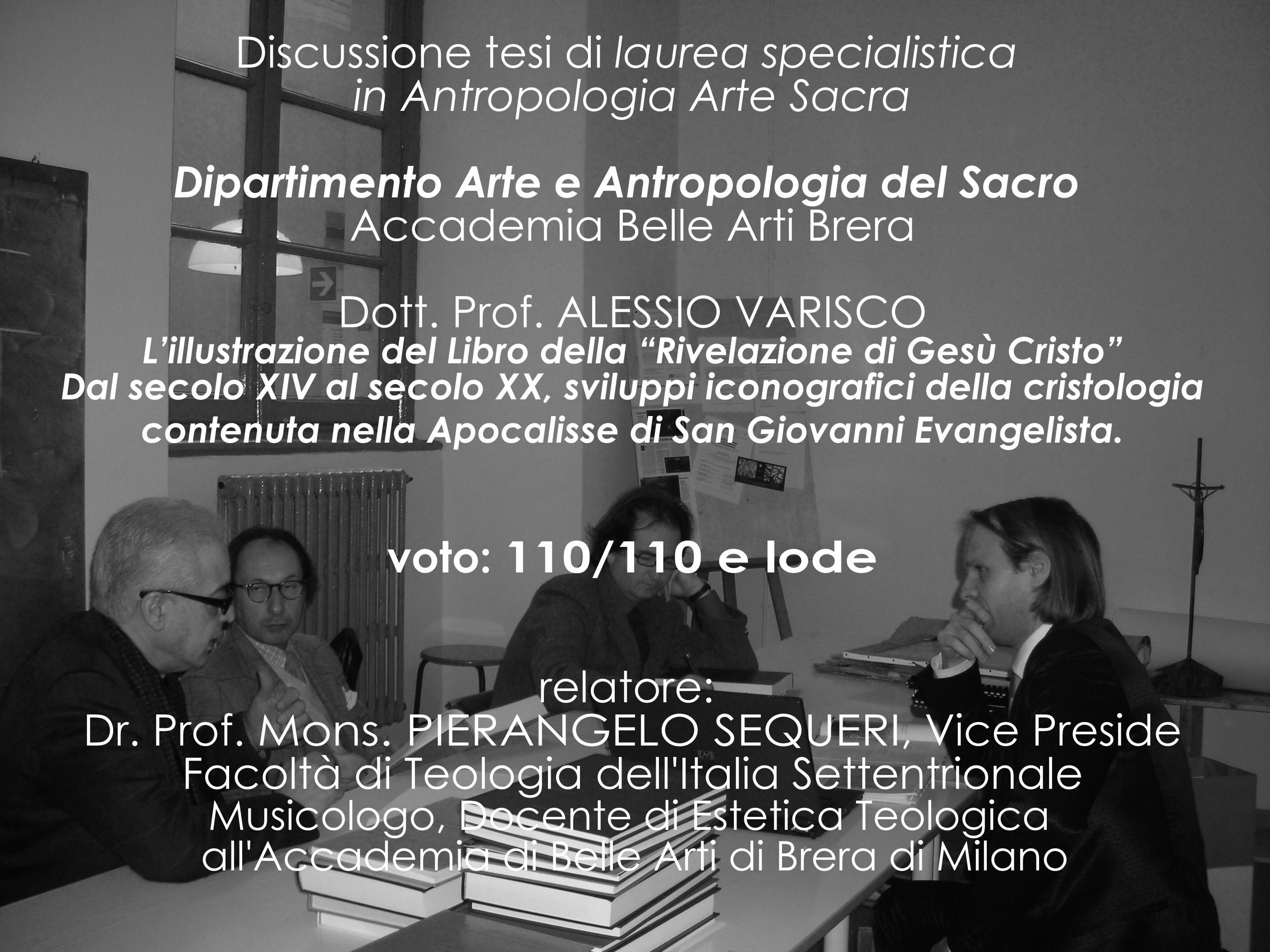 Biografia for Laurea in belle arti